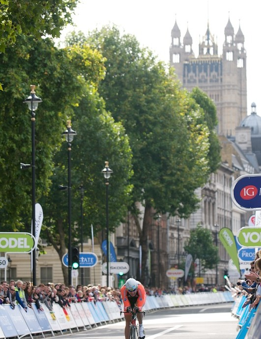 Stage 8a: The time trial finish in Whitehall