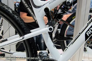 The paint scheme on Rocky Mountain's new aluminum Element full-suspension bikes fools observers into thinking they're looking at one of the upper-end carbon bikes instead.