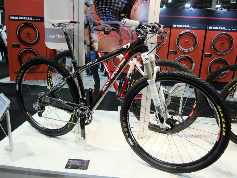 The Vertex 990RSL 29er carbon hardtail will be Rocky Mountain's flagship cross-country race bike for 2012.