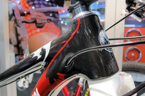 Cables are fed into the down tube just behind the tapered head tube on Rocky Mountain's new Vertex RSL frames.