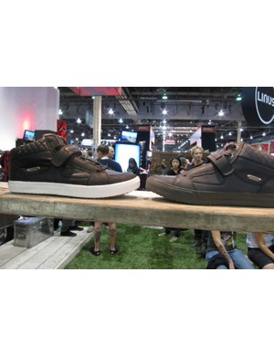 The Mamba (l, $130) and Mamba X (r, $139) are DZR's highest performance shoes; the latter is suitable for off-road riding