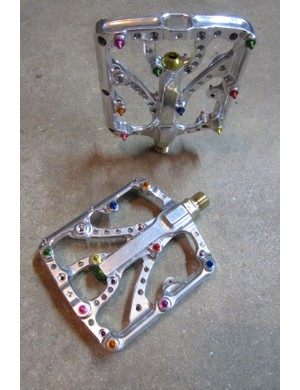 Boutique Montana machine shop Twenty6 make this polished flat pedal called the Predator