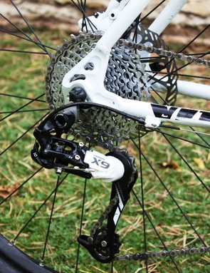 SRAM X9 derailleur paired to a 12-36Tcassette