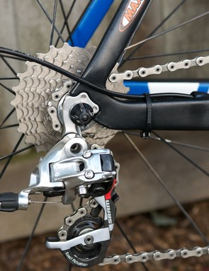 SRAM Red rear mech and swept up seat stay