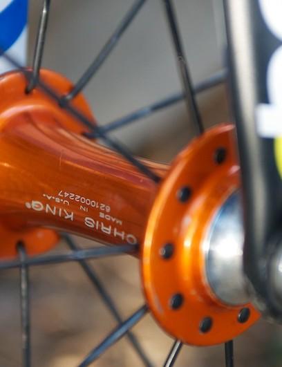 Chris King sealed bearing front hub, radially spoked