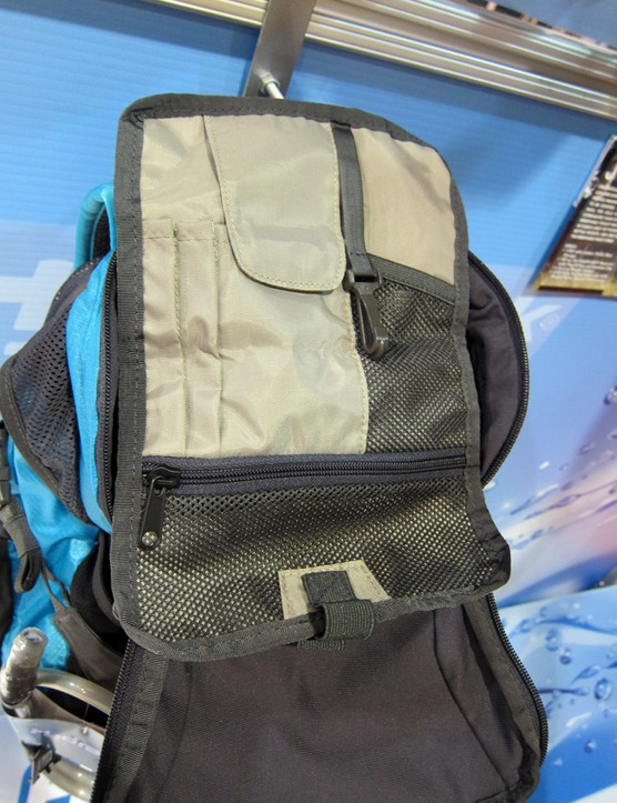 The top of the new Hydrapak Jolla is fitted with a tool wrap
