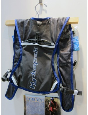 Hydrapak fit their E-Lite Vest with few bells and whistles - just a sleeve for a one-liter reservoir and a few quick-access pockets on the straps for energy gels and the like