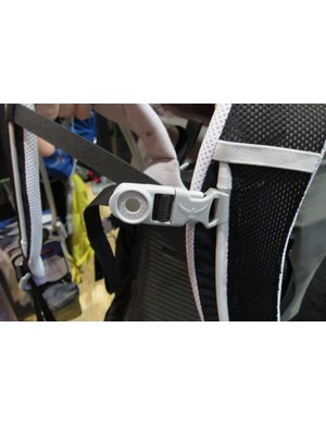 The magnetic button is integrated to the chest strap clip