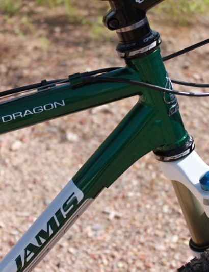 The down tube gusset adds some stiffness and strength