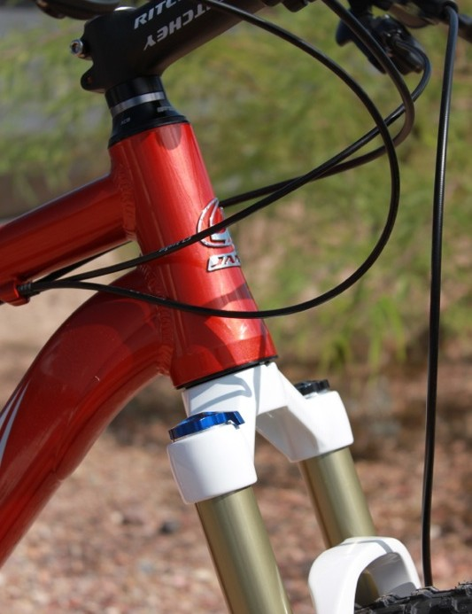 Nemesis employs a tapered head tube