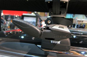 A simple flip of the end allows access to the mounting channel on Thule's new Aeroblade crossbars