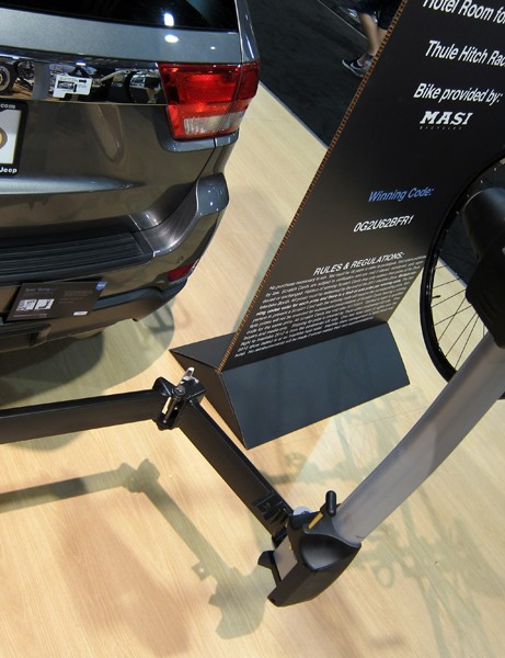 The new Thule Apex Swing's sturdy base quickly releases and swings away for easy access to the rear of your vehicle