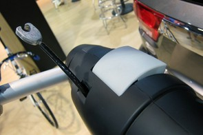 The Thule Apex Swing features an integrated cable lock plus handy quick-release levers