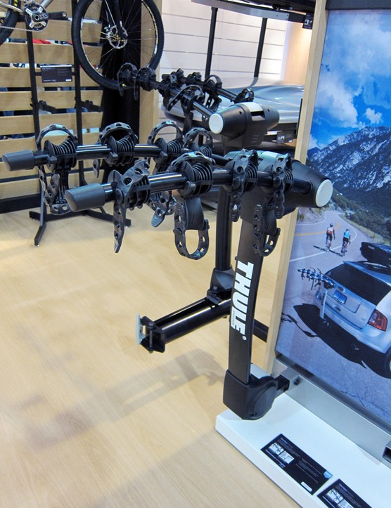 Thule also have a non-swinging version of the new Apex hitch carrier