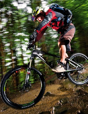 A slacker head angle gives you even more confidence to attack steep downhills