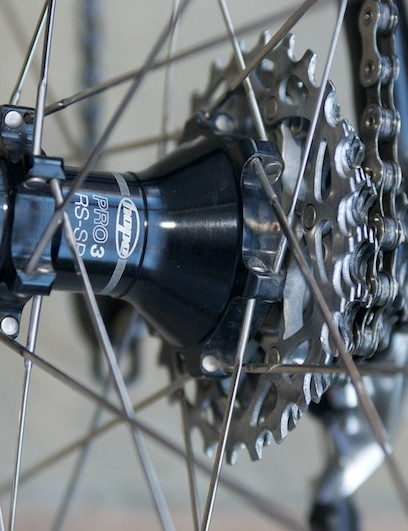 The excellent Hope Pro 3 road hubs