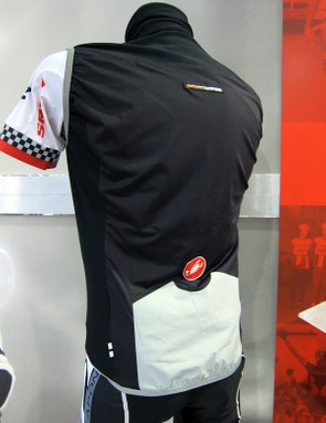 Castelli equip the Fawesome Vest with a more breathable fabric for the rear but add in an extra-protective patch around the bottom to guard against road spray