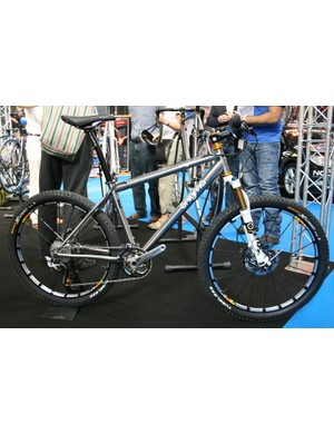 This tricked-out titanium Ego drew lots of admiring glances on Enigma's stand