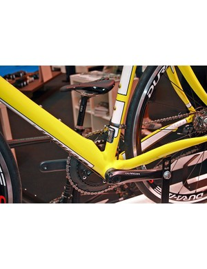 The Condor Squadra has unusual, almost round-shaped chainstays