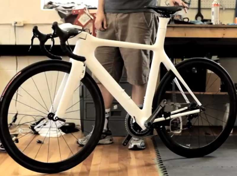 You wont see the mind-enabled Parlee on the showroom floor anytime soon, but a similar iteration of this aero frame is in the works