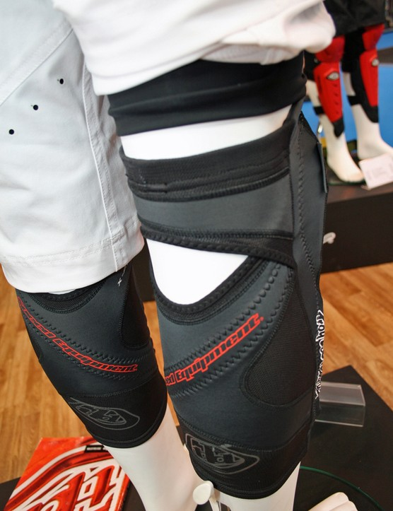 Instead of Velcro straps, the pads are kept in place by a Lycra sleeve and silicone strips