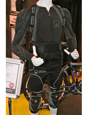 Plenty of Forcefield's snow/motorcycle gear crosses over to mountain biking