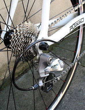 It's not often you'll find a Shimano 105 rear derailleur on a bike of this price