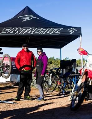 Santa Cruz's demo team: Ariel Lindsley and Abby Hippely