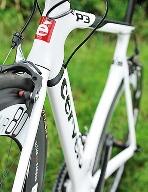 Cervélo's Smart Wall carbon-fibre technology means the P3C is still one of the lightest aero frames around