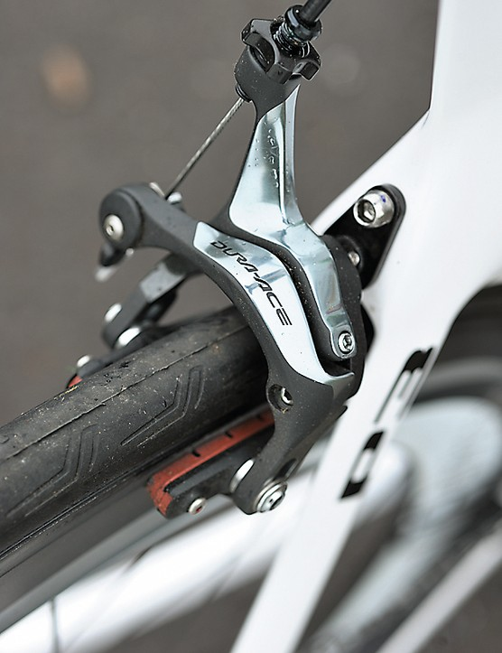 Direct routed, conventional mounted brakes aren't the most aero, but they feel great
