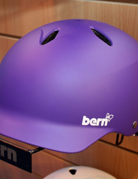 Bern helmets with built-in peaks are also available; this is the £60 Lenox women's model