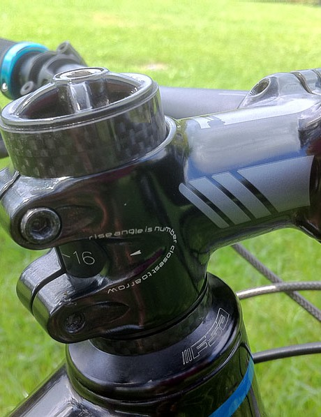 A multi-position Specialized stem helps with front end setup