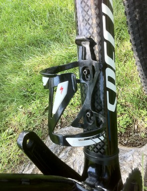This water bottle cage works best for right-handed drinkers