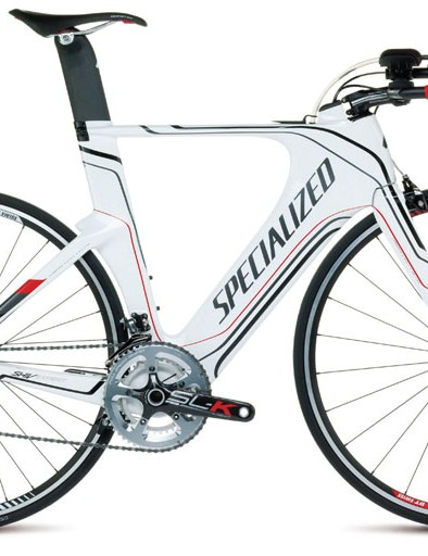 The Specialized Shiv Expert has a different seatpost to the higher-end models and is specced with Shimano Dura Ace gearing