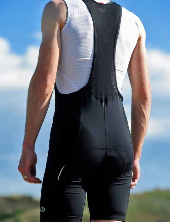 Icebreaker reserves the wool-blend fabric for just the sides and front of the Circuit Bib shorts but the sparse applications of conventional synthetic materials aren't enough to produce a sufficiently snug fit