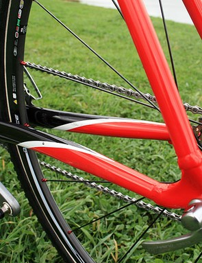 The alloy chain- and seatstays of the Specialized CruX Elite