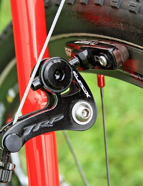 Field favours TRP EuroX cantilever brakes over discs on his Specialized CruX Elite