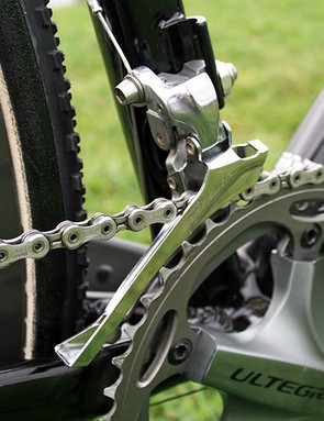 Shinano Ultegra front derailleur on the CruX Elite