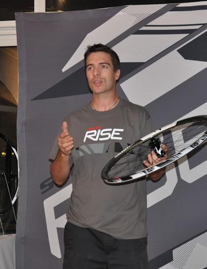 SRAM's wheel product manager, Bastien Donze, introduces the new RISE wheels