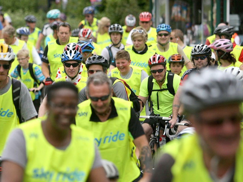 It's hoped that events like the Sky Ride series will encourage more people to use bikes for local transport