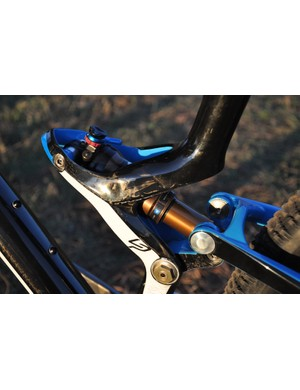 The shock mount on Lapierre's all-carbon XR relies solely on the strength of the seat tube for structural integrity