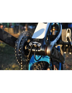 The XR gets internal shifter routing through the down tube