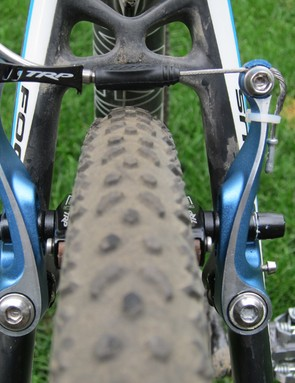 Mud clearance at the pads with the TRP CX8.4 isn't as good as most cantilevers but there's ample room elsewhere.  Even the lower cable position isn't any more apt to collect mud than the seatstay bridge on most frames