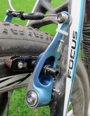 Setup and adjustments are easy on the TRP CX8.4 brakes. Just a single wrench is required for all pad adjustments while dual spring tensioners make for very straightforward centering tweaks. There are no annoying little set screws, either