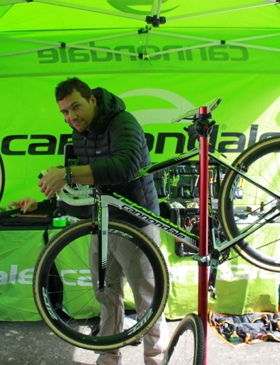 Daimeon Shanks employed a new QR code system to track the Cannondale-cyclocrossworld.com team's equipment