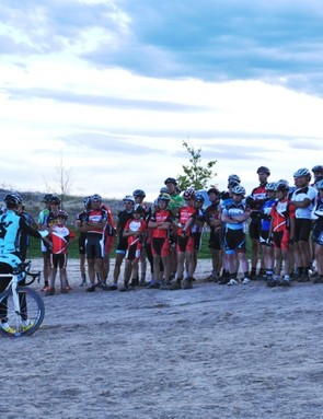 Berden gave a free sand-riding clinic to Boulder, CO's cyclo-cross racers