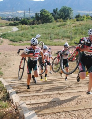 Training in Boulder, CO's new Valmont Park during their preseason camp