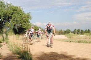 Riding the sand at Valmont