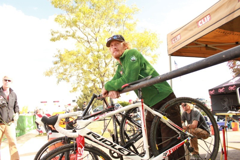Ben Turner watching his racers at the recent USGP of Cyclocross in Fort Collins, CO