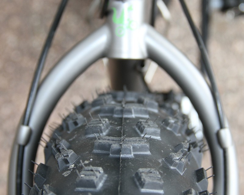 The Moots FrosTi will have room for up to 3.7in-wide tires front and rear